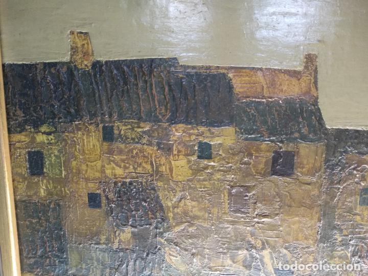 Arte: IMPORTANTE OBRA DEL PINTOR ANTONIO PEDRERO YÉBOLES - PUEBLO ZAMORANO - OLEO SOBRE LIENZO - 1965 - - Foto 4 - 139175962