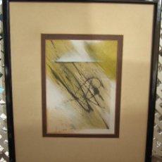 Arte: ANTIGUO ACRILICO Y LAPIZ SOBRE PAPEL. Lote 139194950