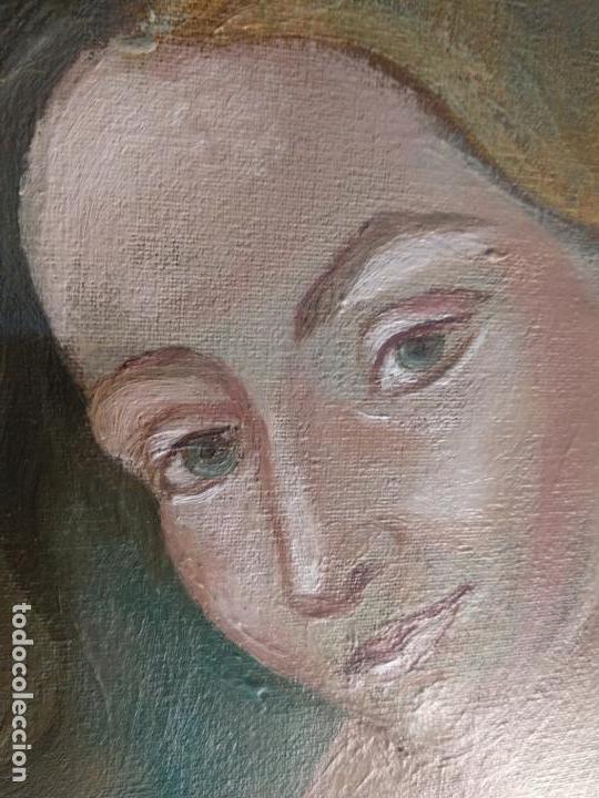 Arte: MUY BELLO OLEO SOBRE LIENZO DE MUJER ALADA - FIRMADO POR EL PINTOR CUBANO LAZARO REYNALDO RODRIGUEZ - Foto 4 - 139206886