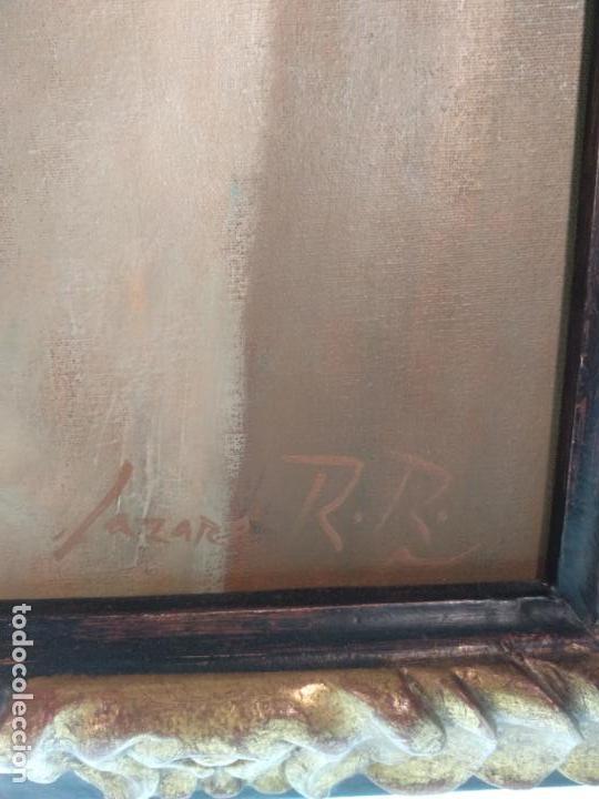 Arte: MUY BELLO OLEO SOBRE LIENZO DE MUJER ALADA - FIRMADO POR EL PINTOR CUBANO LAZARO REYNALDO RODRIGUEZ - Foto 6 - 139206886