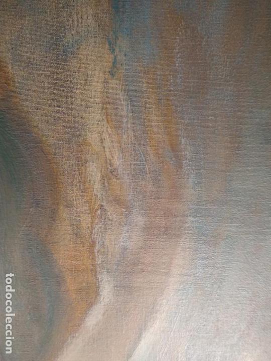 Arte: MUY BELLO OLEO SOBRE LIENZO DE MUJER ALADA - FIRMADO POR EL PINTOR CUBANO LAZARO REYNALDO RODRIGUEZ - Foto 10 - 139206886