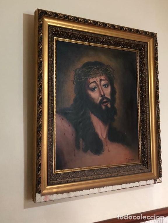 CUADRO OLEO J. VIZCAÍNO. F GRAN TAMAÑO 84X73CM (Arte - Pintura - Pintura al Óleo Contemporánea )