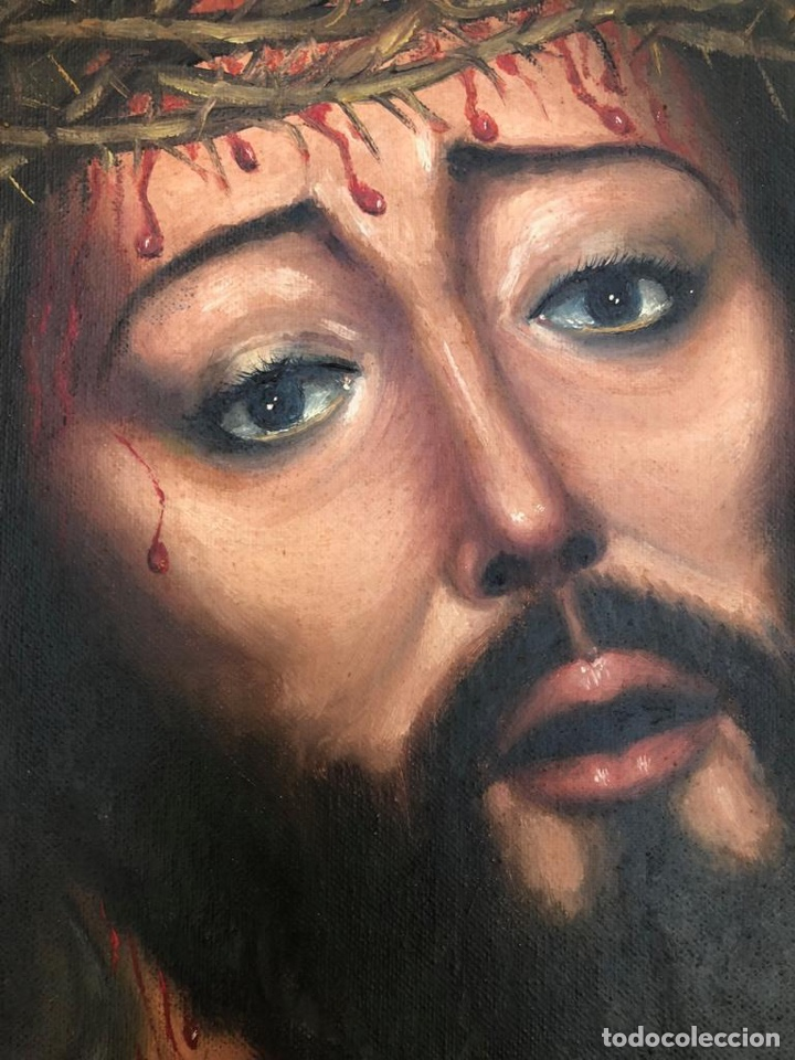 Arte: Cuadro Oleo J. Vizcaíno. F gran tamaño 84x73cm - Foto 5 - 139215310