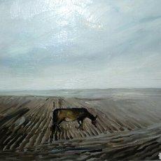 Arte: SOLEDAD EN CASTILLA, OLEO SOBRE LIENZO DE WALDO AGUIAR. Lote 139219900