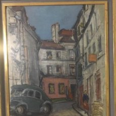 Arte: PRECIOSA ESCENA URBANA DE 1951 DE HENRI BOULAGE. Lote 139224122