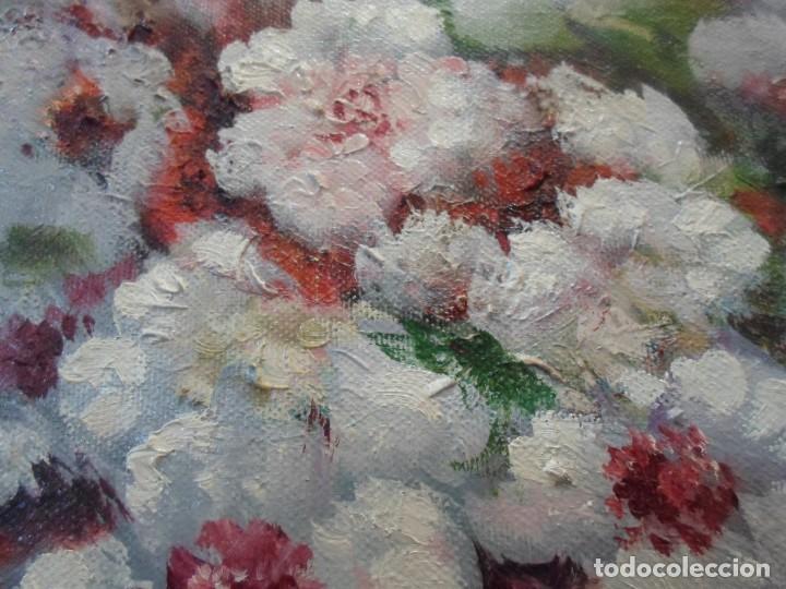 Arte: ÓLEO FLORES BLANCAS. FIRMADO BRONCHUD - Foto 3 - 139242306
