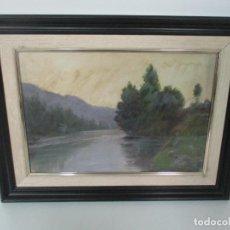 Arte: CUADRO DOMINGO SOLER GILI (SABADELL 1871- BARCELONA 1951) - PAISAJE - ÓLEO SOBRE TABLA. Lote 139279166
