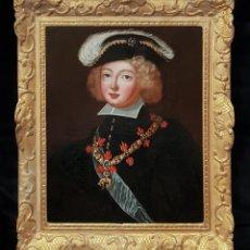 Arte: IMPRESIONANTE OLEO RETRATO DEL REY FELIPE V DESPUES DE JACINTHE RIGAUD (1659-1743) SIGLO XVIII. Lote 139343346