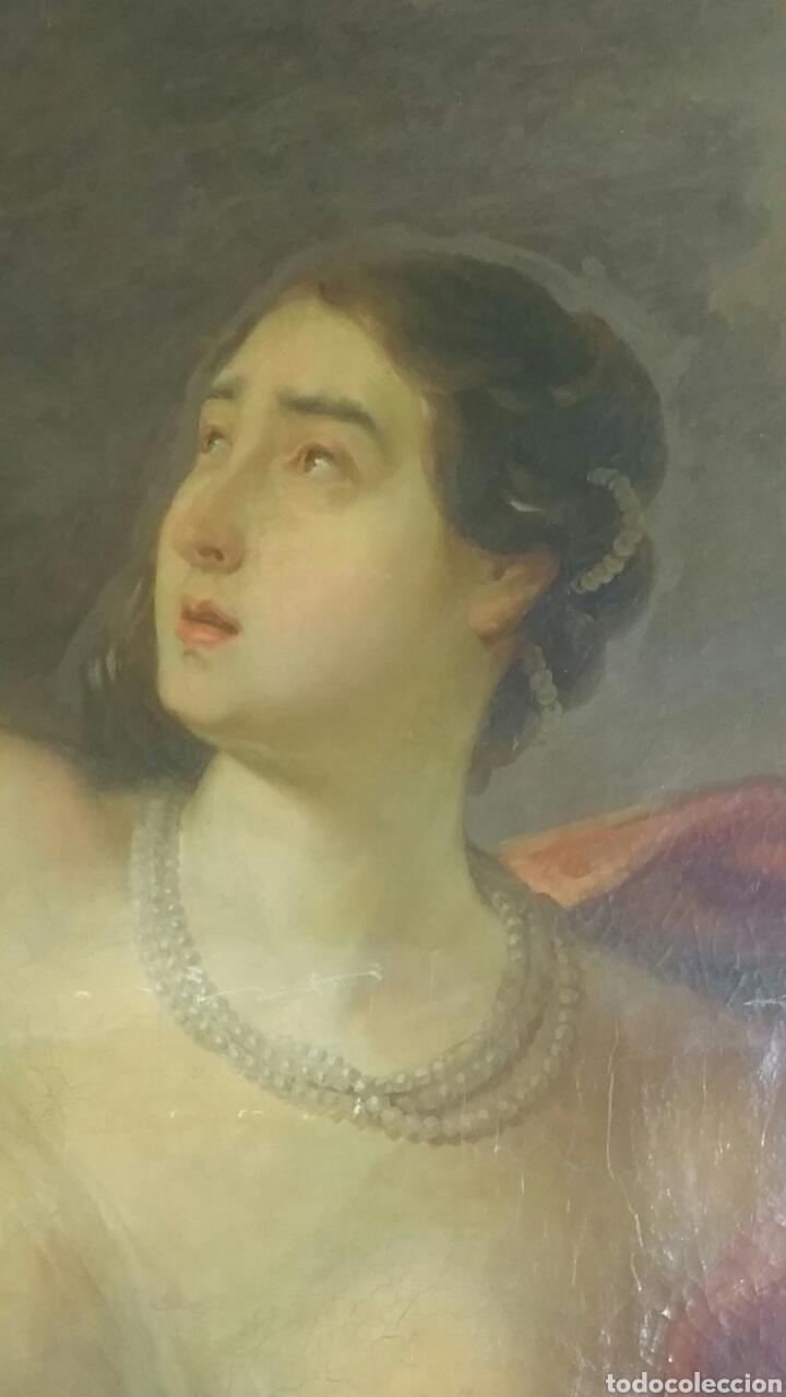 Arte: Óleo sobre lienzo siglo xvii representando el rapto de europa - Foto 2 - 139377718