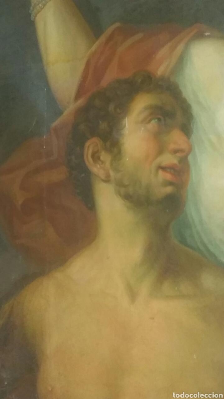 Arte: Óleo sobre lienzo siglo xvii representando el rapto de europa - Foto 3 - 139377718