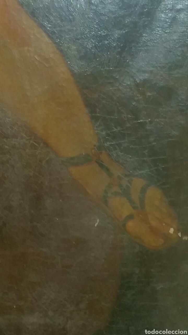 Arte: Óleo sobre lienzo siglo xvii representando el rapto de europa - Foto 4 - 139377718