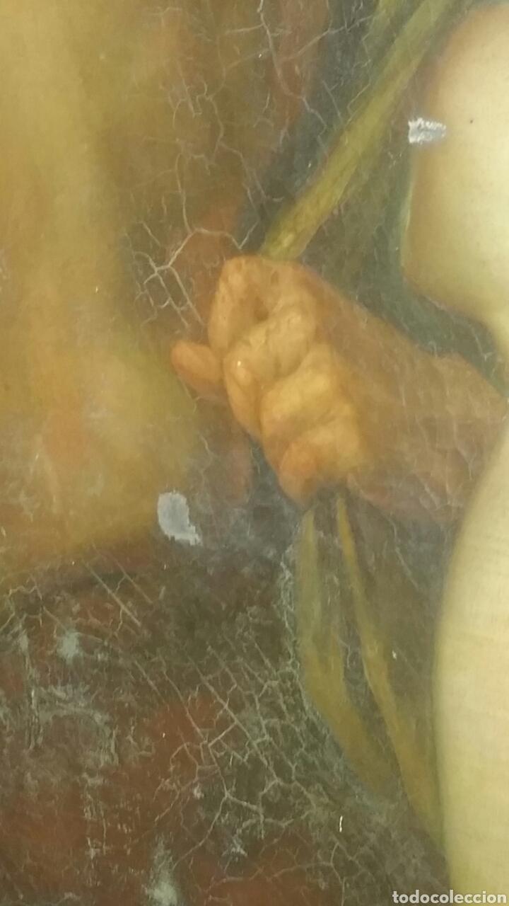 Arte: Óleo sobre lienzo siglo xvii representando el rapto de europa - Foto 7 - 139377718