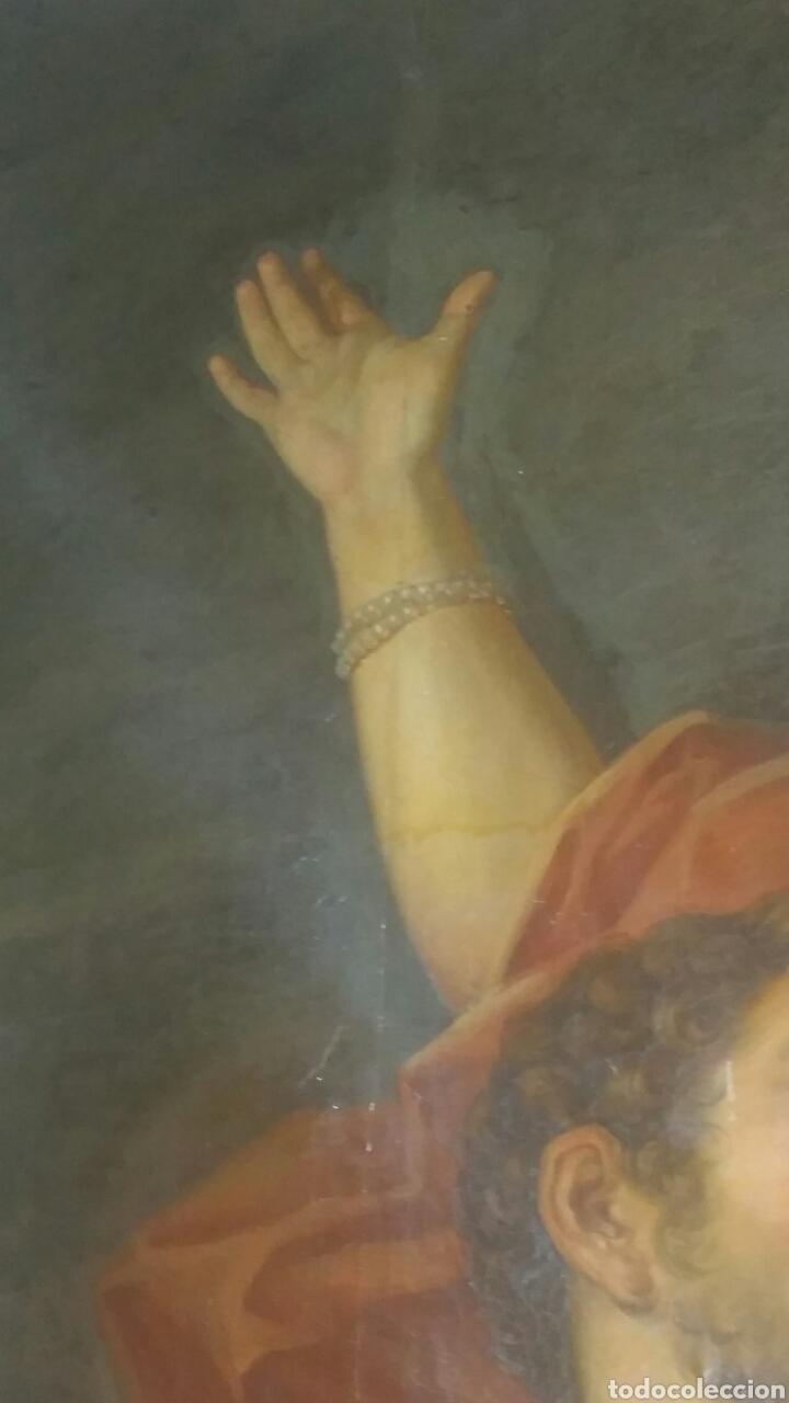 Arte: Óleo sobre lienzo siglo xvii representando el rapto de europa - Foto 8 - 139377718