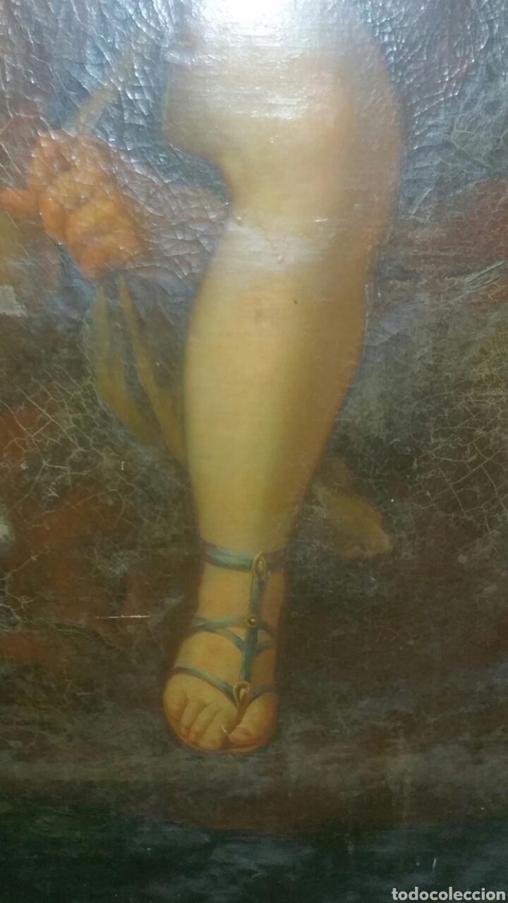 Arte: Óleo sobre lienzo siglo xvii representando el rapto de europa - Foto 11 - 139377718