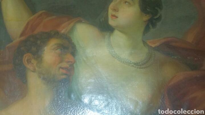 Arte: Óleo sobre lienzo siglo xvii representando el rapto de europa - Foto 12 - 139377718