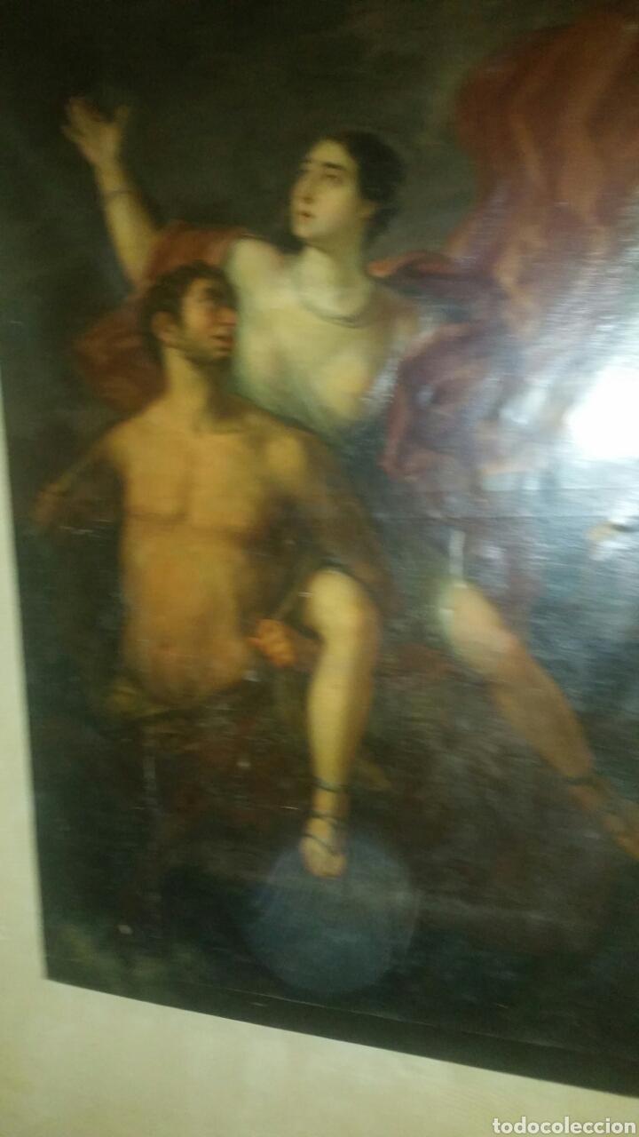 Arte: Óleo sobre lienzo siglo xvii representando el rapto de europa - Foto 14 - 139377718