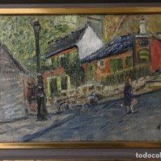 Arte: ESCENA PARISINA IMPRESIONISTA DE 1963 DE HENRI BOULAGE. Lote 139453230