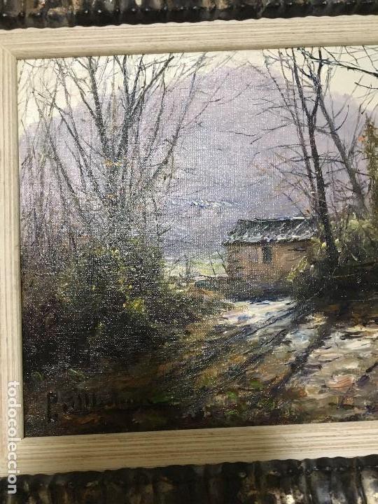 Arte: La Garrotxa - Olot de Pere Colldecarrera (firmado tambien por atras), óleo sobre lienzo - Foto 2 - 139456094