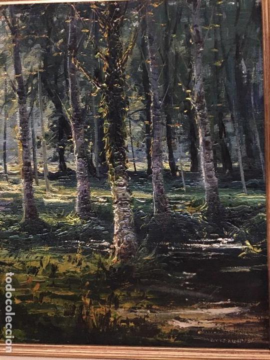 Arte: La Moixina - Olot de Pere Colldecarrera (firmado tambien por atras), óleo sobre lienzo - Foto 3 - 139457278