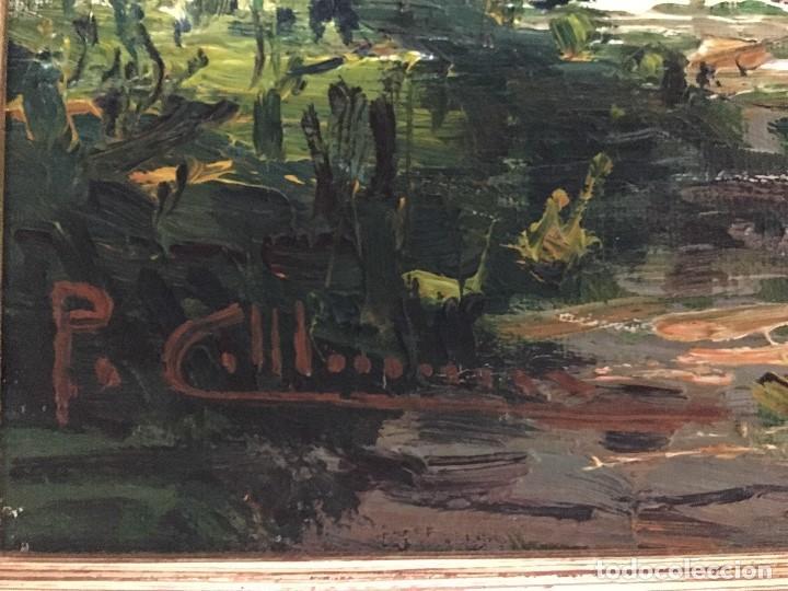 Arte: La Moixina - Olot de Pere Colldecarrera (firmado tambien por atras), óleo sobre lienzo - Foto 4 - 139457278