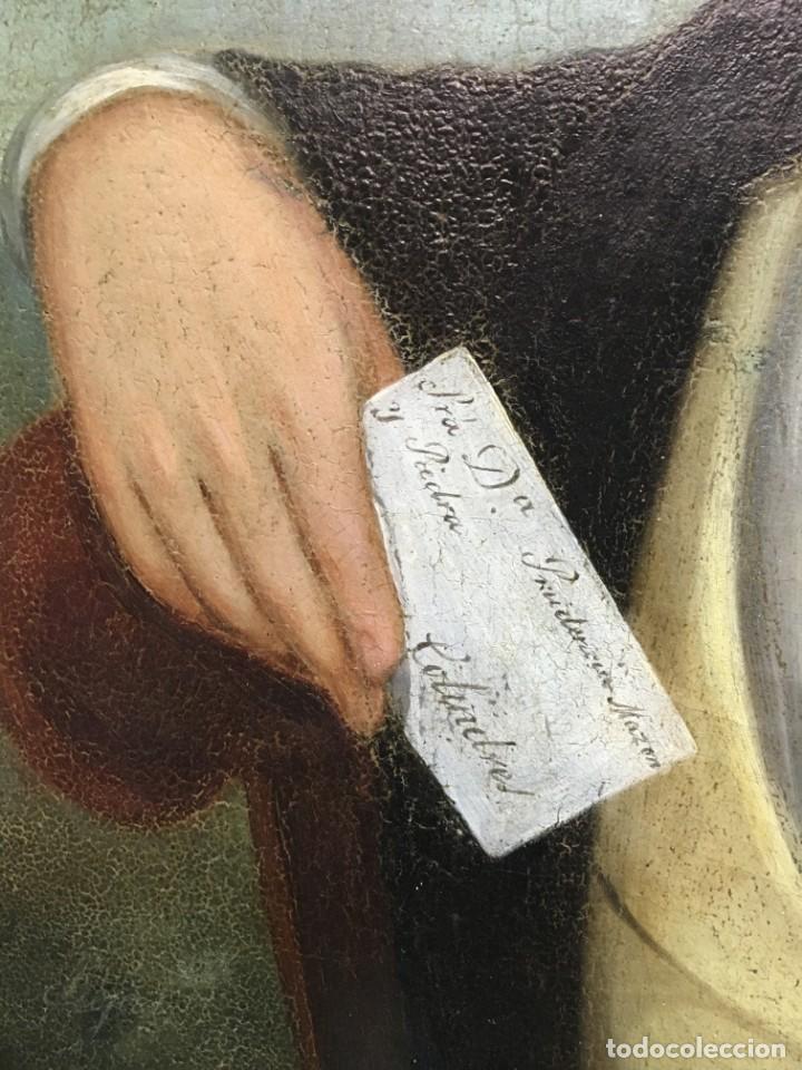 Arte: Retrato de Joven Romántico del siglo XIX - óleo sobre lienzo. - Foto 6 - 139464106