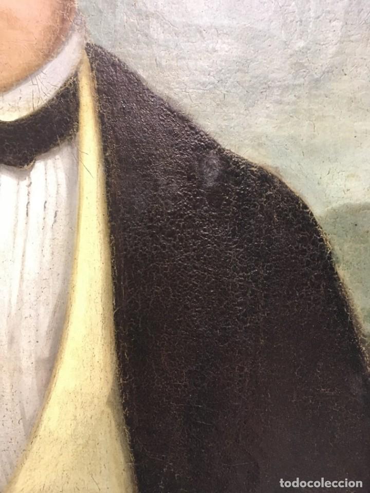 Arte: Retrato de Joven Romántico del siglo XIX - óleo sobre lienzo. - Foto 7 - 139464106