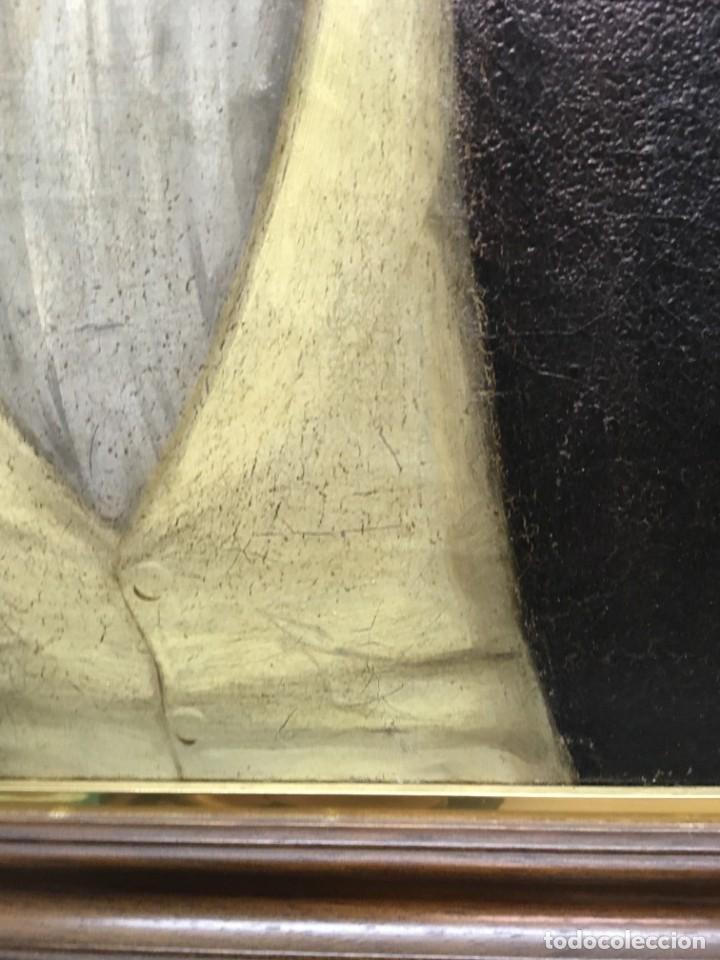 Arte: Retrato de Joven Romántico del siglo XIX - óleo sobre lienzo. - Foto 8 - 139464106