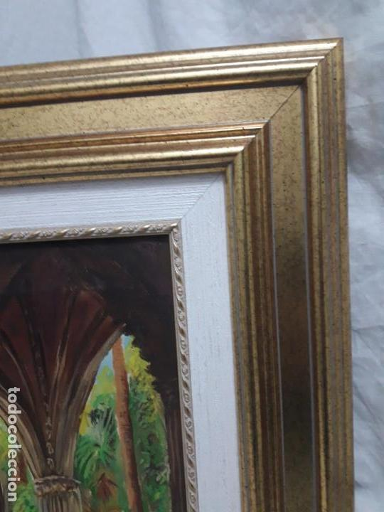 Arte: Magnifico cuadro pintura al oleo sobre tela Claustro firmado Vipla - Foto 8 - 160559794
