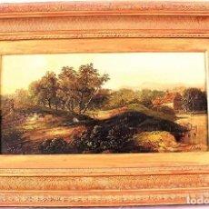Arte: PINTURA DE LA CAMPIÑA BRITÁNICA, ÓLEO SOBRE TABLA.FIRMADO C. MORRIS,ALREDEDOR DE 1870. Lote 139570014