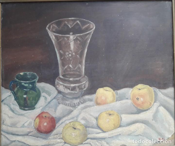 OLEO SOBRE TABLA. BODEGÓN 1952 (Arte - Pintura - Pintura al Óleo Moderna sin fecha definida)