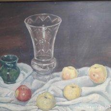 Arte: OLEO SOBRE TABLA. BODEGÓN 1952. Lote 139594234