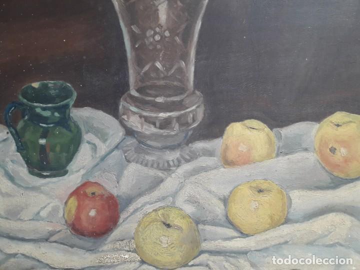 Arte: OLEO SOBRE TABLA. BODEGÓN 1952 - Foto 2 - 139594234