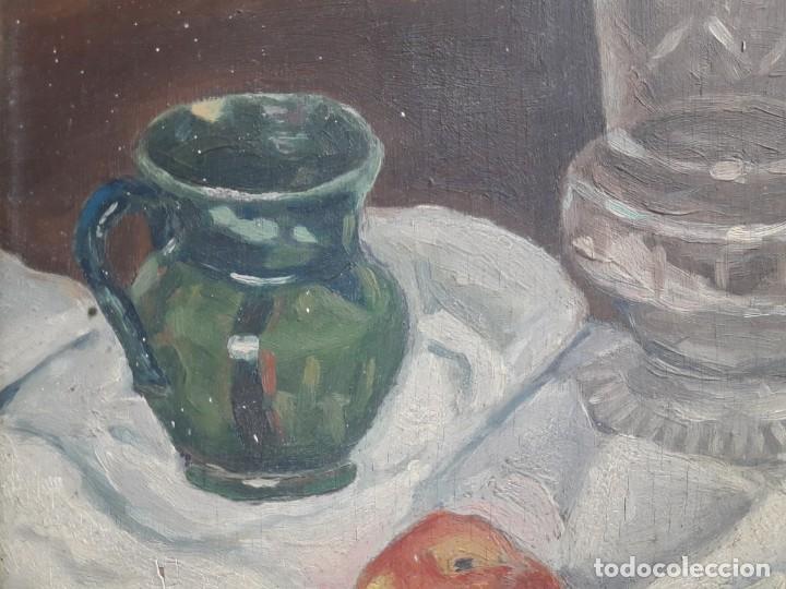 Arte: OLEO SOBRE TABLA. BODEGÓN 1952 - Foto 3 - 139594234