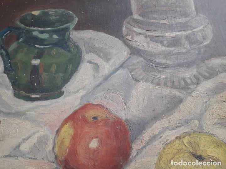 Arte: OLEO SOBRE TABLA. BODEGÓN 1952 - Foto 11 - 139594234