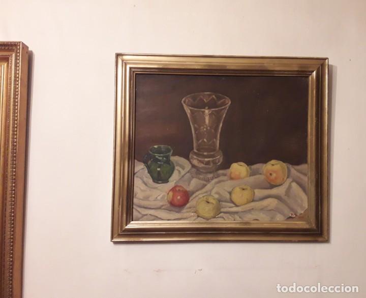 Arte: OLEO SOBRE TABLA. BODEGÓN 1952 - Foto 13 - 139594234