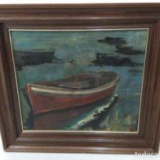 Arte: LIQUIDACIÓN ANTIGUA PINTURA MARINA FIRMADA A. PACHECO 1935. Lote 139611490