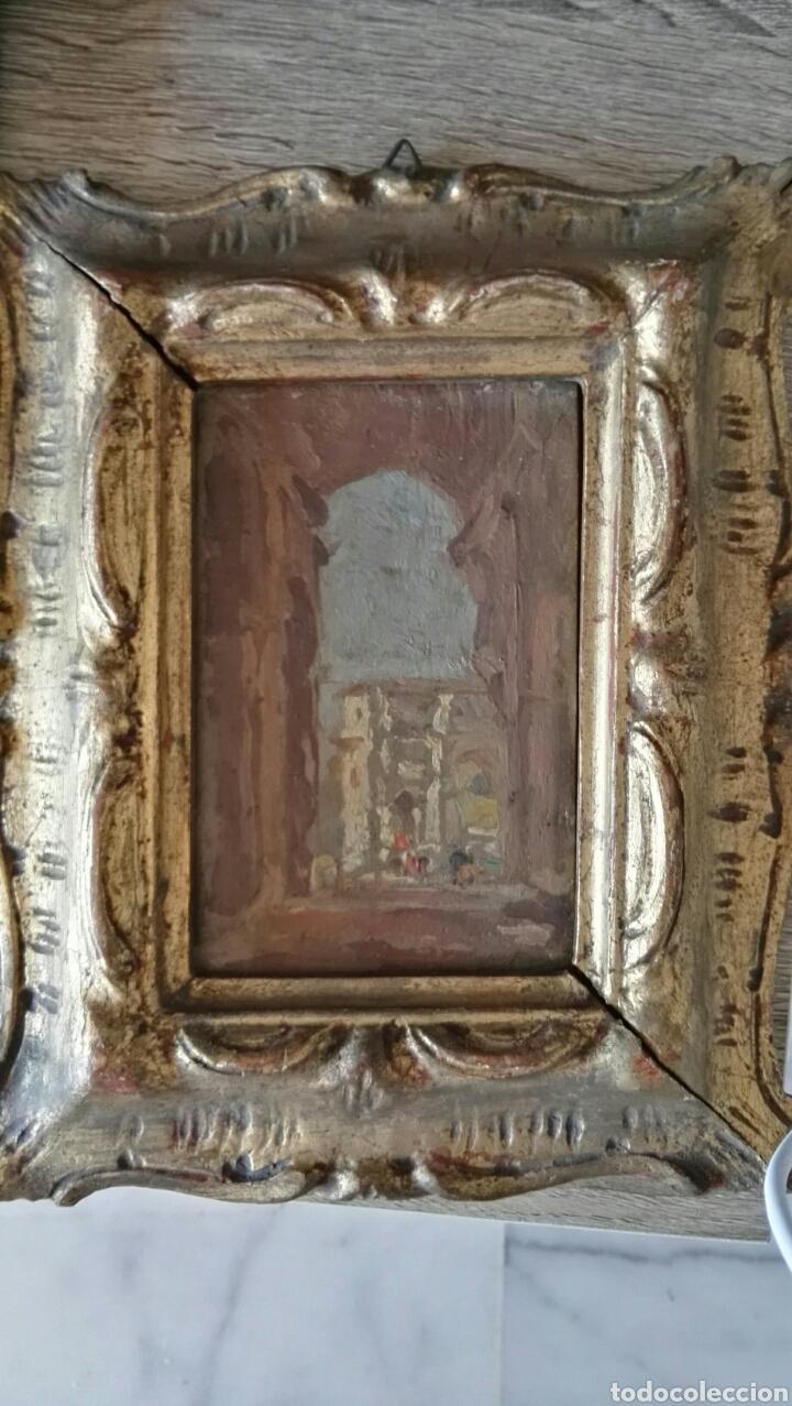 ESPECTACULAR PINTURA PEQUEÑA SOBRE TABLERO ANTIGUO (Arte - Pintura - Pintura al Óleo Antigua sin fecha definida)