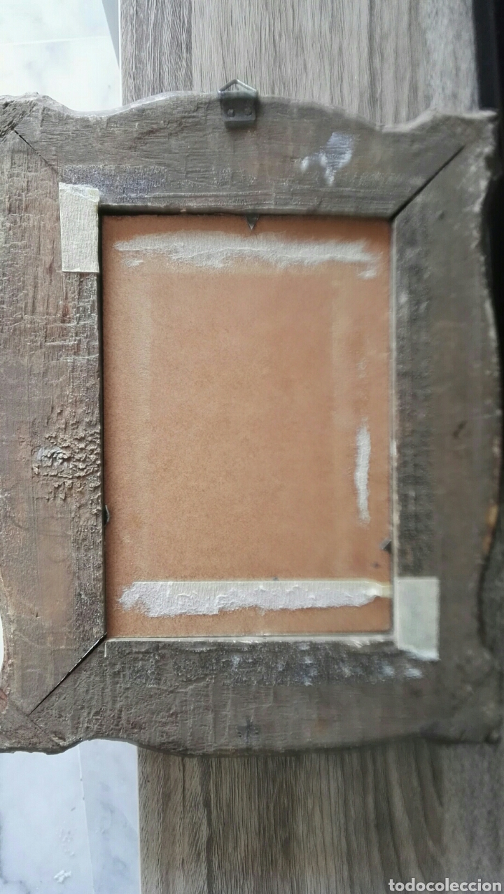 Arte: Espectacular pintura pequeña sobre tablero antiguo - Foto 3 - 139637897