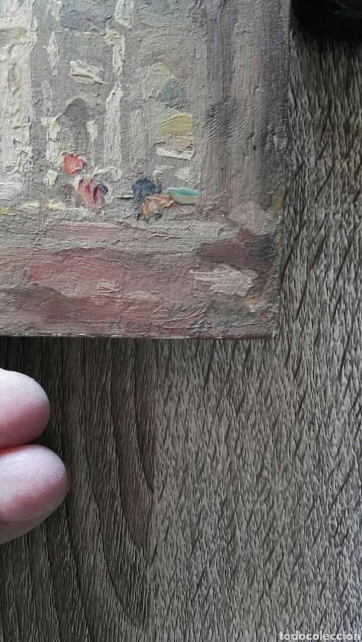 Arte: Espectacular pintura pequeña sobre tablero antiguo - Foto 5 - 139637897