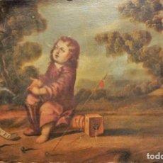 Arte: EL NIÑO DE LA ESPINA EN UN PAISAJE (ESCUELA ESPAÑOLA SIGLO XVII). Lote 139660302