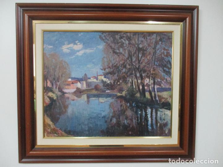 ÁNGEL CODINACH CAMPLLONCH (OLOT 1922 -1995 GIRONA) - PAISAJE OLOT - ÓLEO SOBRE TELA (Arte - Pintura - Pintura al Óleo Moderna sin fecha definida)