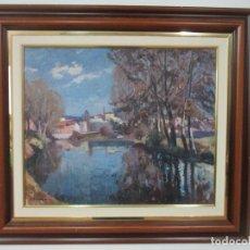 Arte: ÁNGEL CODINACH CAMPLLONCH (OLOT 1922 -1995 GIRONA) - PAISAJE OLOT - ÓLEO SOBRE TELA. Lote 139782418