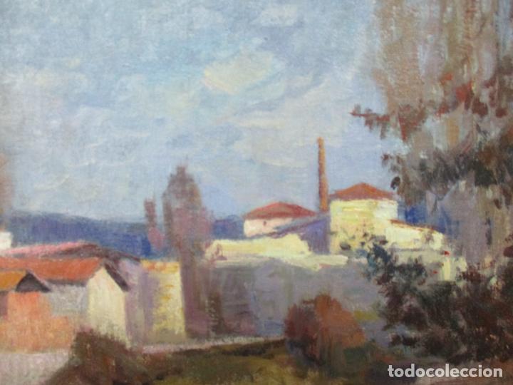 Arte: Ángel Codinach Campllonch (Olot 1922 -1995 Girona) - Paisaje Olot - Óleo sobre Tela - Foto 5 - 139782418