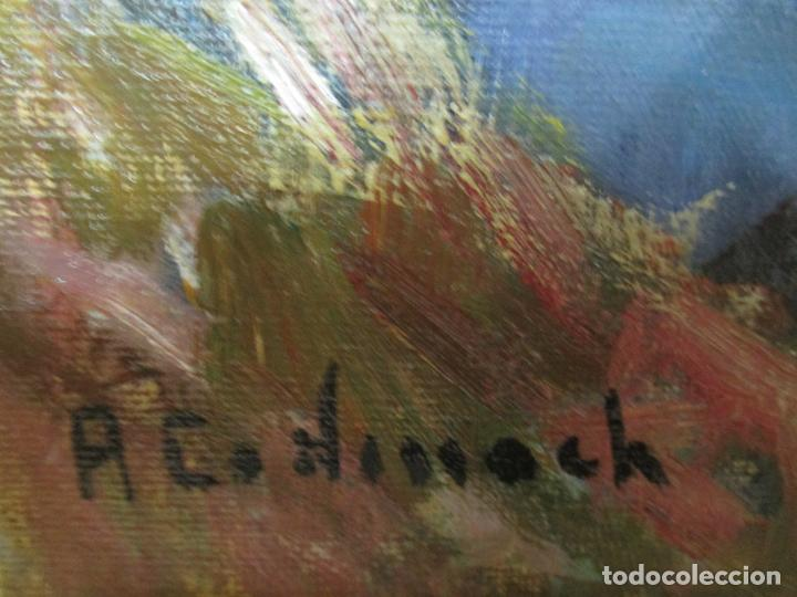 Arte: Ángel Codinach Campllonch (Olot 1922 -1995 Girona) - Paisaje Olot - Óleo sobre Tela - Foto 8 - 139782418