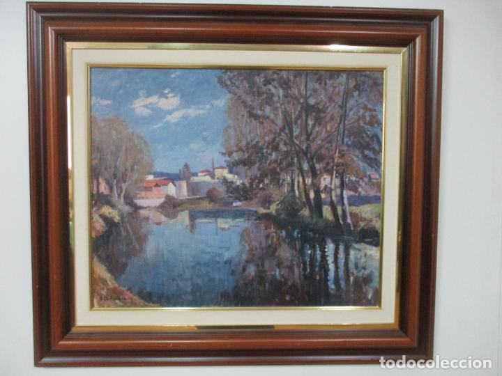 Arte: Ángel Codinach Campllonch (Olot 1922 -1995 Girona) - Paisaje Olot - Óleo sobre Tela - Foto 12 - 139782418