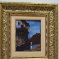 Arte: EXTRAORDINARIA OBRA DEL PINTOR TOMAS PEREISCCO SIGLO XIX O XX O/MADERA MED 27 X 22 CM ACANTIALADO PA. Lote 139797486