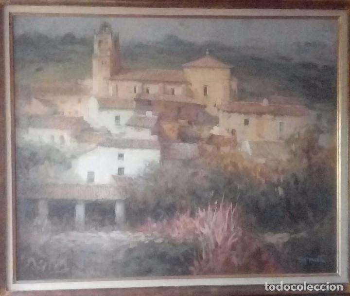 PINTURA ITALIANA RUGGERO SERRATO PAISAJE (Arte - Pintura - Pintura al Óleo Contemporánea )