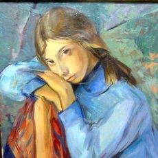 Arte: RETRATO DE UNA JOVEN. PERE CREIXAMS PICÓ (1893-1965). ÓLEO SOBRE LIENZO. . Lote 139881810