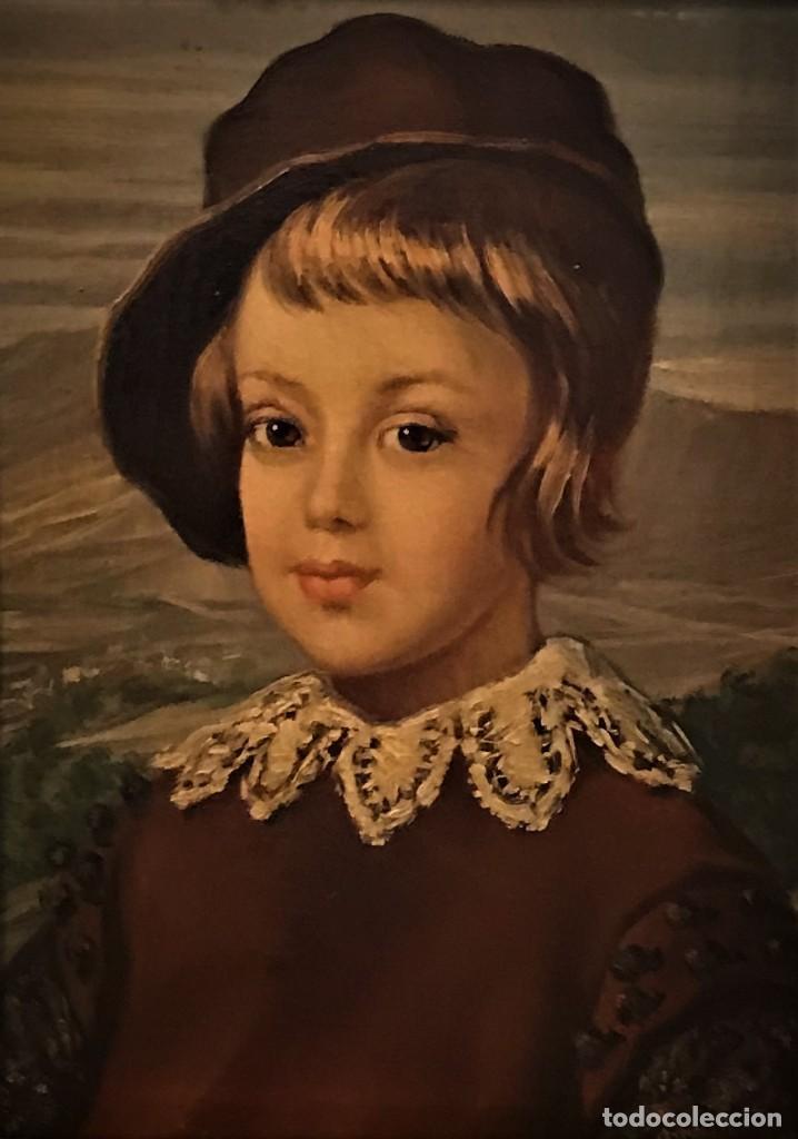 Arte: retrato principe baltasar carlos, siguiendo modelos de velazquez - Foto 2 - 139889494