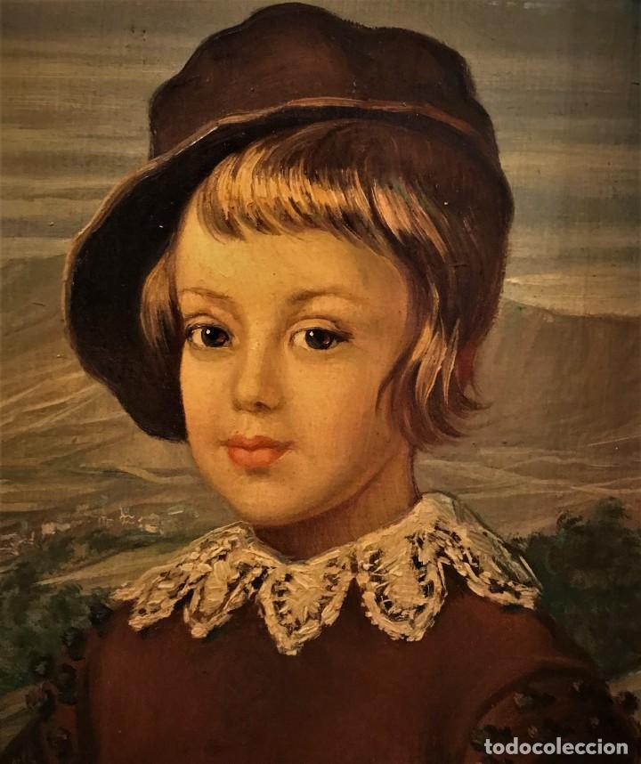 Arte: retrato principe baltasar carlos, siguiendo modelos de velazquez - Foto 4 - 139889494
